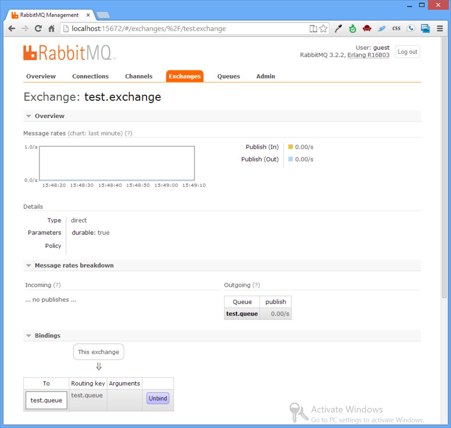 UI - Test Exchange