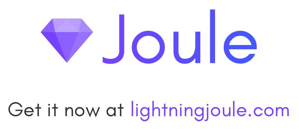 Joule, get it now at lightningjoule.com