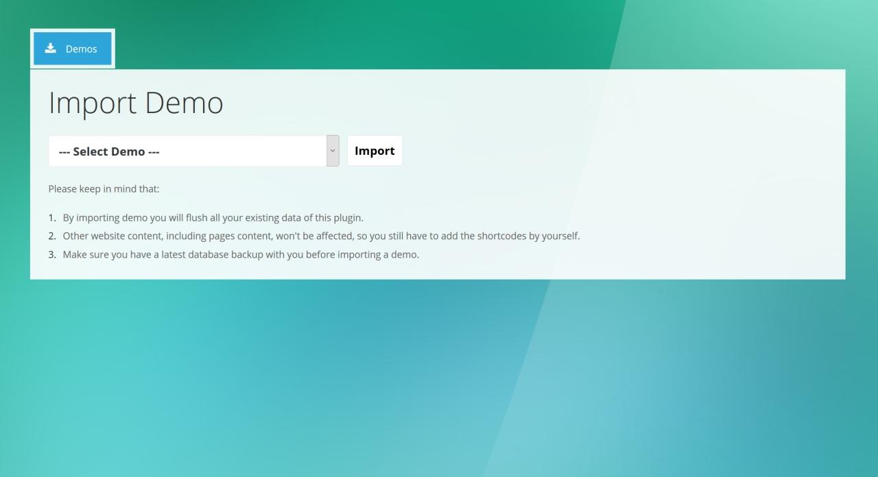 4. Expandable FAQ - Admin Import Demo