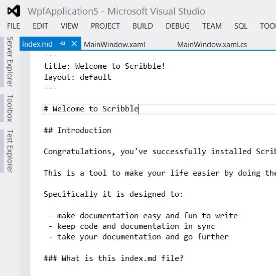 screenshot of docs folder
