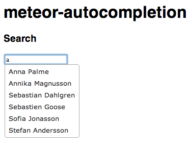 Autocompleting a name