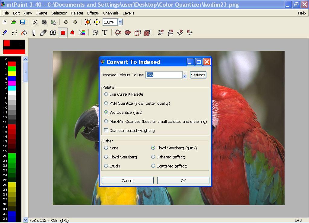mtpaint screenshot