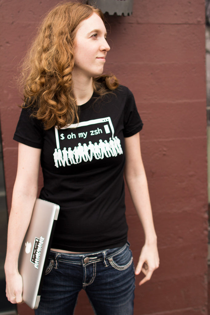 Black Oh My Zsh t-shirt