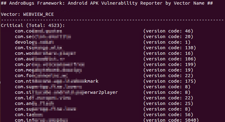 AndroBugs_ReportByVectorKey.py